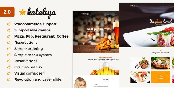 Kataleya 披萨咖啡 WordPress主题 v2.2.7