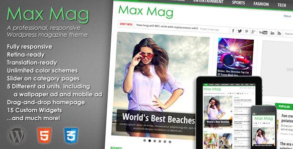 Max Mag 新闻杂志 WordPress主题 v2.0.9.0
