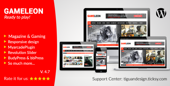 Gameleon – 街机杂志WordPress主题 – v6.5
