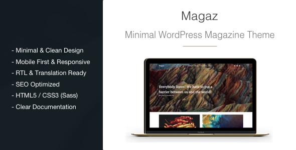Magaz 极简新闻杂志 WordPress主题