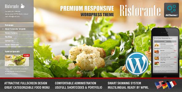 Ristorante 全屏餐厅饭店 WordPress主题 v1.26