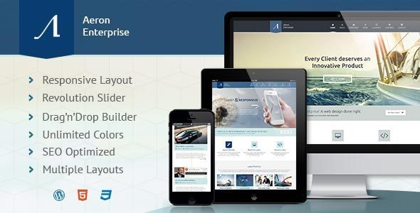 Aeron 高级企业 WordPress主题 v3.0.2