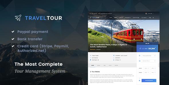 Travel Tour 旅游预定管理WordPress主题 v2.0.0-WordPress主题推荐