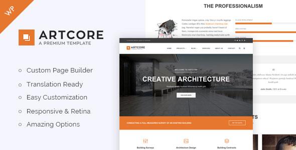 Artcore 建筑工程 WordPress主题 v1.4