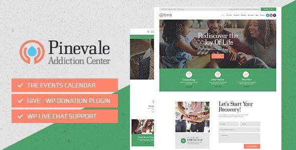 Pinevale – 戒网瘾治疗康复中心网站WordPress主题 – v1.0.4