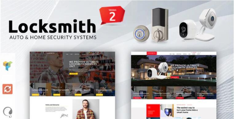 Locksmith – 安全系统安防设备锁具WordPress主题 – v3.5