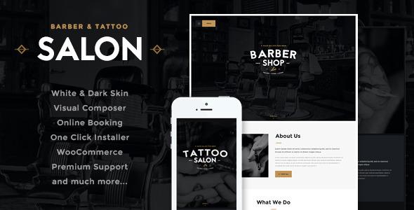 Barbershop 美容美发沙龙 WordPress主题 v2.0