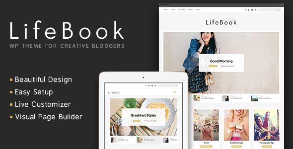 Lifebook 创意博客 WordPress主题 v1.0.1
