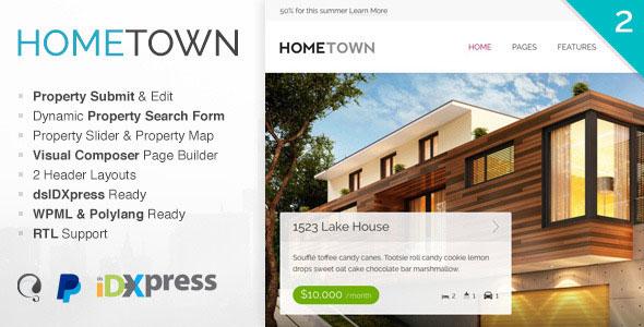 Hometown 地产置业租售 WordPress主题 – v2.9