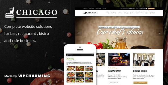 Chicago 咖啡酒吧餐饮 WordPress主题 v1.1.1