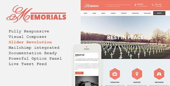 Memorials v2.3.0 墓地陵园WordPress主题
