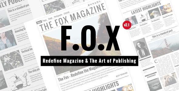 The Fox 杂志博客模板WordPress主题 – v4.3.0