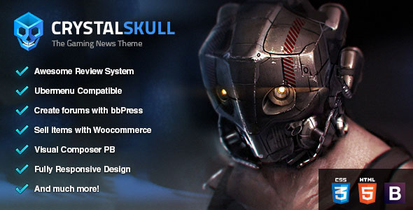 CrystalSkull 游戏杂志 WordPress 主题 – v1.8