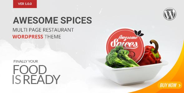 Awesome Spice 餐饮美食 WordPress主题