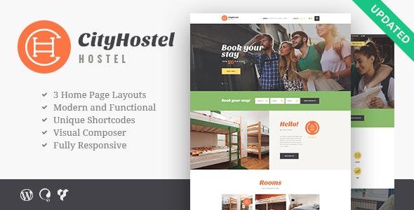City Hostel – 旅馆旅游酒店预订WordPress主题 – v1.0.7