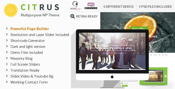 Citrus 创意单页WordPress主题 – v2.2