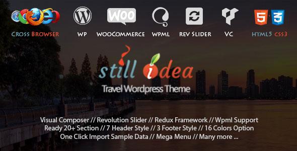 Stillidea 旅游多用途网站模板WordPress主题 – v1.3