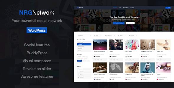 NRGnetwork 多用户分享图库WordPress汉化主题