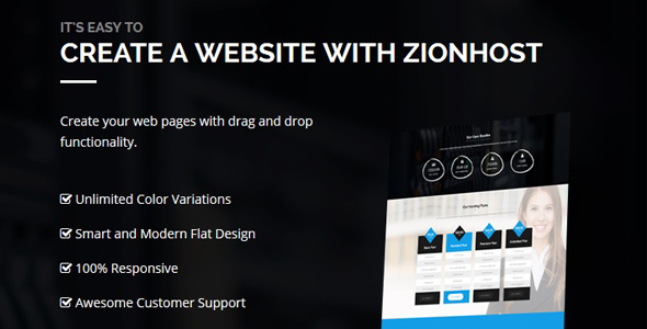 ZionHost 域名主机空间服务 WordPress主题