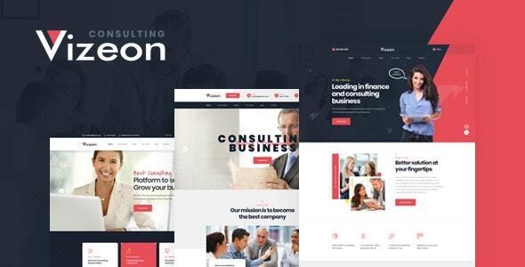 Vizeon – 商业咨询公司网站WordPress主题 – v1.0.1