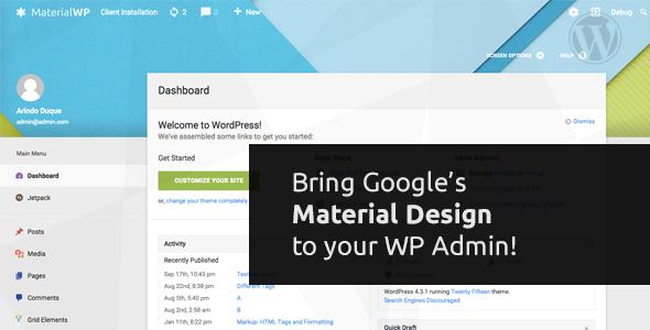 Material WP – WordPress后台管理主题后台模板 – v1.1.5-WordPress主题推荐