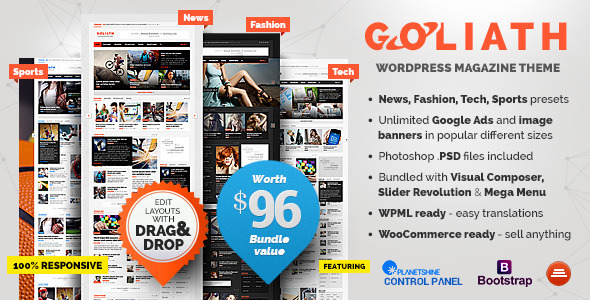 GOLIATH 新闻杂志 WordPress主题 v1.0.37