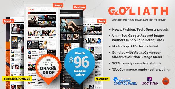 GOLIATH 新闻杂志 WordPress主题 v1.0.23