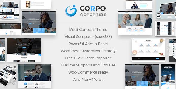 Corpo – 现代企业公司WordPress主题-WordPress主题推荐