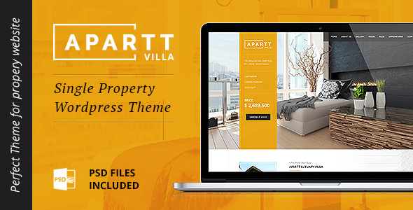 APARTT VILLA 单个地产出售WordPress主题