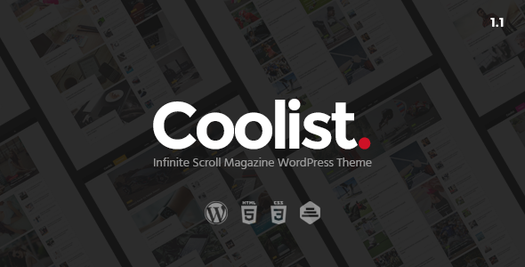 Coolist v1.2.2 新闻杂志WordPress主题-WordPress主题推荐