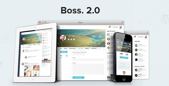 Boss 社区社交 WordPress/BuddyPress主题 – v2.5.6