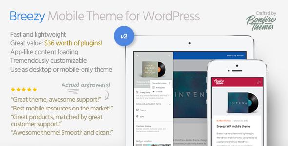 Breezy 手机博客 WordPress主题 v2.0