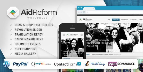 Aid Reform 公益慈善 WordPress主题 v2.1