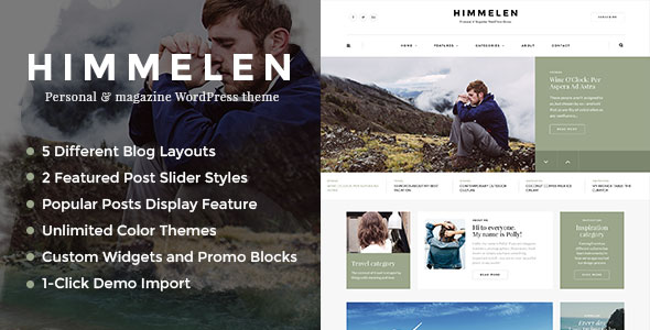 Himmelen 专业博客 WordPress主题 v1.0.4