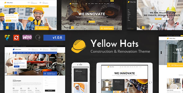 Yellow Hats v1.0.6 – 建筑装修WordPress主题-WordPress主题推荐