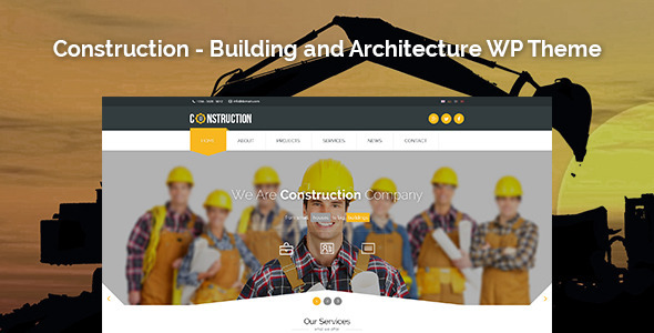 Construction 建筑工程公司 WordPress主题 v1.3.2
