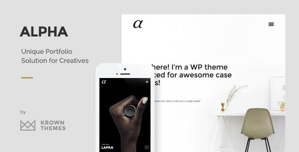 Alpha 创意作品展示 WordPress主题 v1.0.1