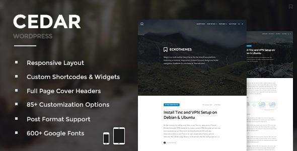 Cedar 博客杂志网站模板WordPress主题 – v3.3-WordPress主题推荐