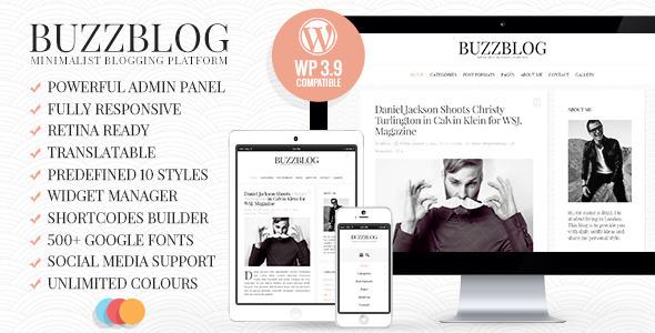 BuzzBlog 博客 WordPress主题 v2.5