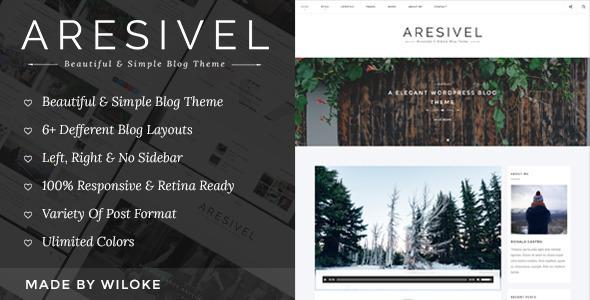 Aresivel 自适应博客 WordPress主题 v1.3.2