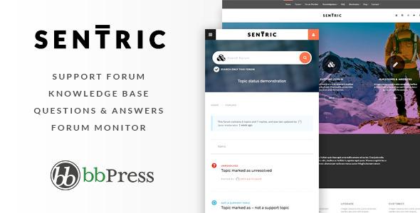 Sentric 百科论坛技术支持 WordPress主题 v1.1