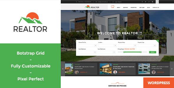 Realtor 地产租售WordPress主题 – v1.4.1