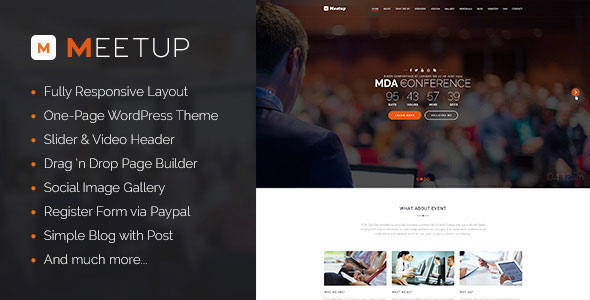 Meetup 活动事件 WordPress主题