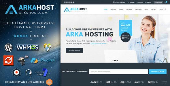 Arka Host 主机域名企业WordPress主题