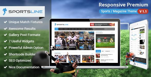 Sportsline 体育新闻 WordPress主题 v2.6