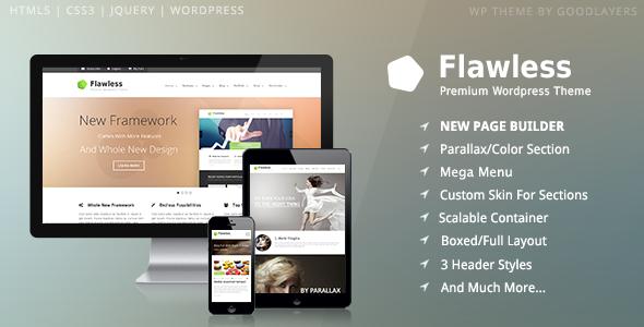 Flawless 多用途WordPress主题 – v1.5