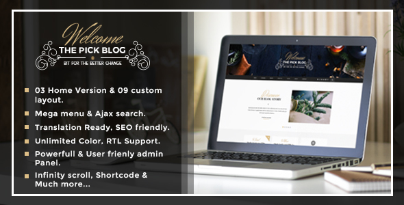 Pick 博客 WordPress主题 – v2.0