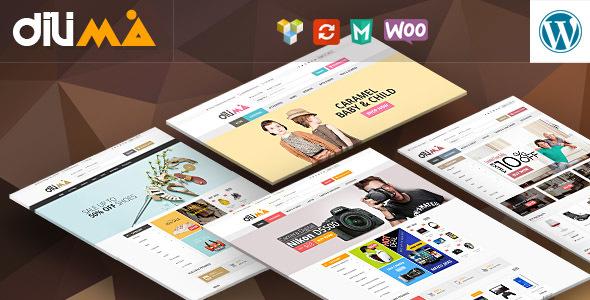Dilima 大型WooComerce购物商城 WordPress主题