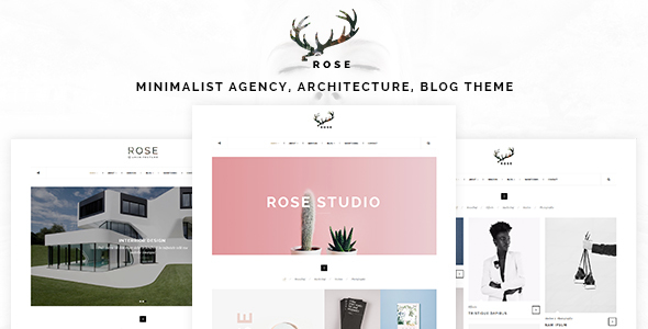 Rose 极简作品展示/建筑/景观/博客 WordPress主题 v1.1