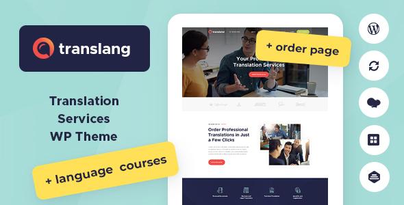 Translang – 翻译语言服务WordPress模板 – v1.1.5